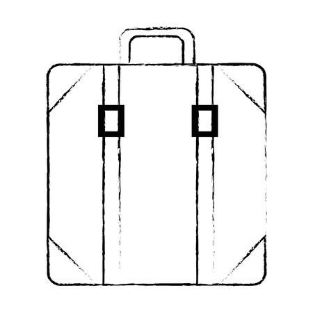 スーツケースバッグ×アイコンベクトルイラストデザイン