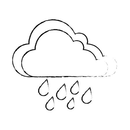 weather cloud rainy icon vector illustration design Stock Vector - 94146602