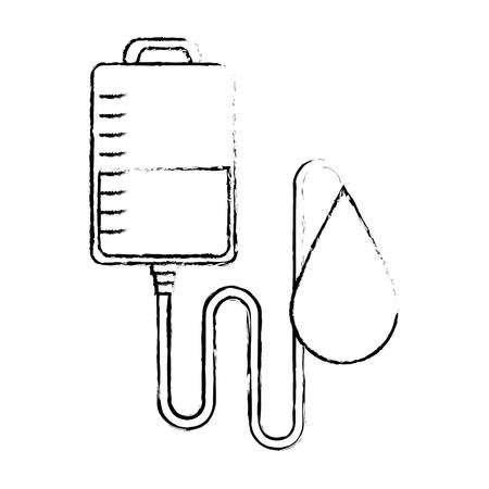 blood bag donation with drop vector illustration design