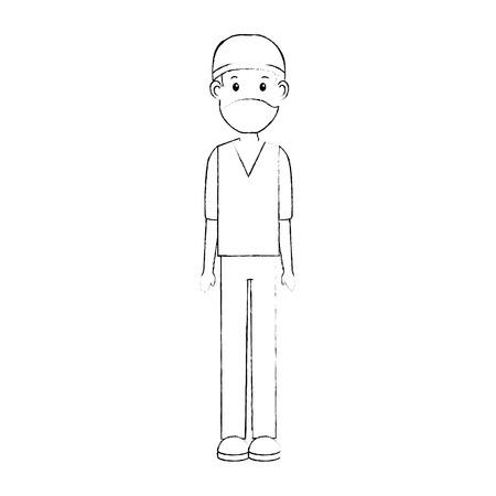 surgeon doctor avatar character icon vector illustration design Reklamní fotografie - 94146720