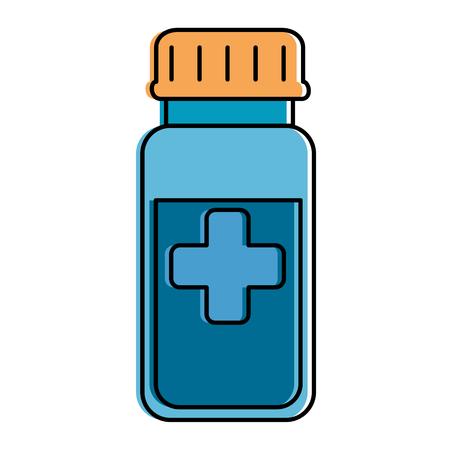 bottle drugs isolated icon vector illustration design