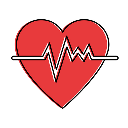 heart cardio isolated icon vector illustration design Stock Vector - 94274042