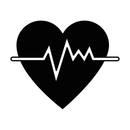 Coeur cardio isolé icône du design illustration vectorielle Banque d'images - 94149496