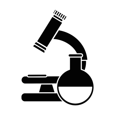 microscope medical with tube test vector illustration design
