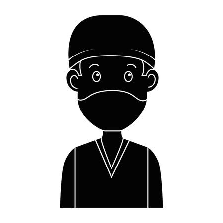 外科医医師アバターキャラクターアイコンベクトルイラストデザイン  イラスト・ベクター素材