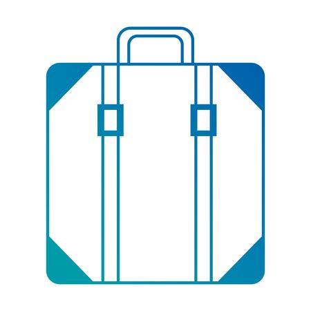 スーツケースバッグ孤立アイコンベクトルイラストデザイン  イラスト・ベクター素材