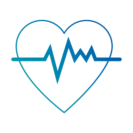 heart cardio isolated icon vector illustration design Banco de Imagens - 94150463