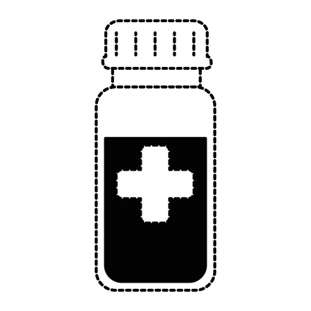 Bottle drugs isolated icon vector illustration design.