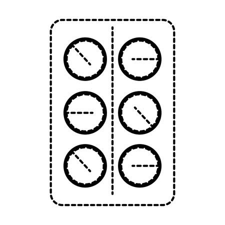 Ontwerp van de het pictogram vectorillustratie van pillen het drugs geïsoleerde Stockfoto - 94151482