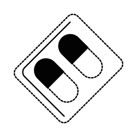 カプセル薬単離アイコンベクターイラストデザイン