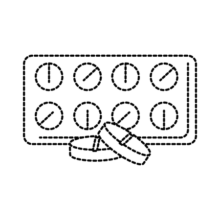 Pills drugs isolated icon vector illustration design.