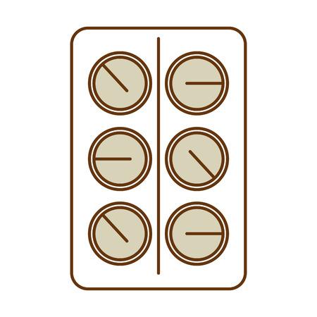 Ontwerp van de het pictogram vectorillustratie van pillen het drugs geïsoleerde