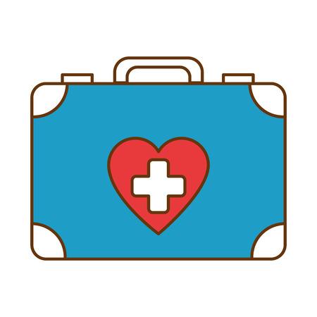 Medical kit isolated icon vector illustration design 向量圖像