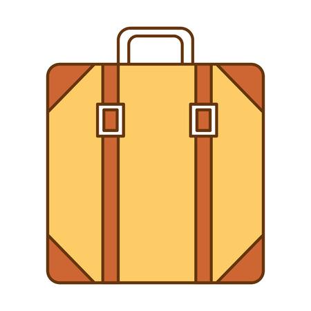 Suitcase bag isolated icon vector illustration design Illustration