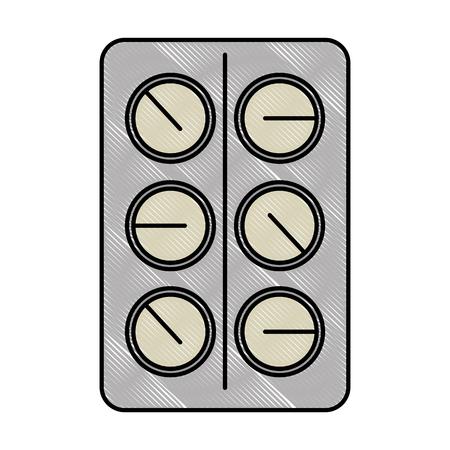 pillen drugs geïsoleerd pictogram vector illustratieontwerp