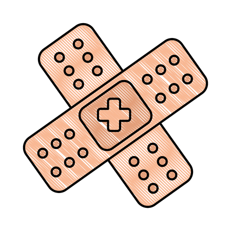 cure band isolated icon vector illustration design