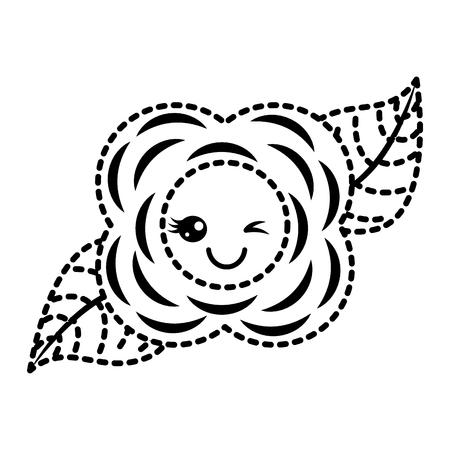 sticker flower  cartoon natural vector illustration Ilustração