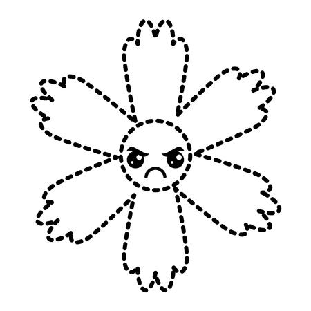 cute sticker flower cartoon vector illustration Иллюстрация