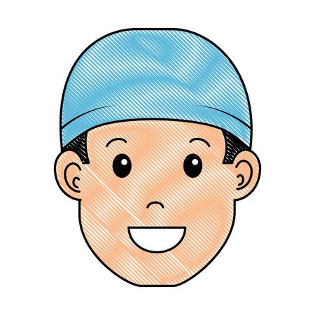 surgeon doctor avatar character icon vector illustration design