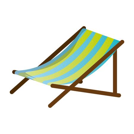 Beach chair isolated icon vector illustration design Illustration