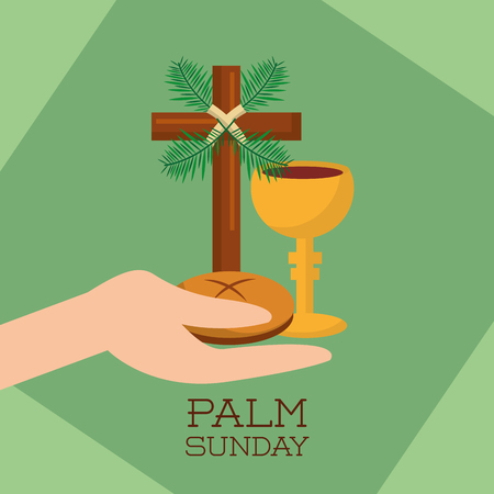 Palm Sunday design vector illustration Illusztráció