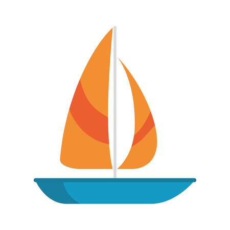 Summer sailboat isolated icon vector illustration design Stok Fotoğraf - 94205964