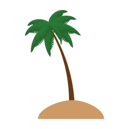 手のひらシーンベクトルイラストデザインのビーチ