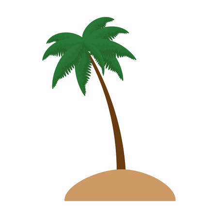 Beach with palms scene vector illustration design Stock fotó - 94205965