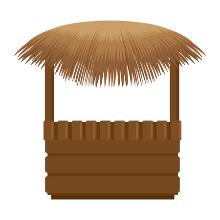Straw beach hut icon. Vector illustration design.