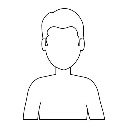 Young man shirtless character. Vector illustration design. Stock Vector - 94207590