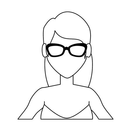 jonge vrouw in zwembroek vector illustratie ontwerp Stock Illustratie