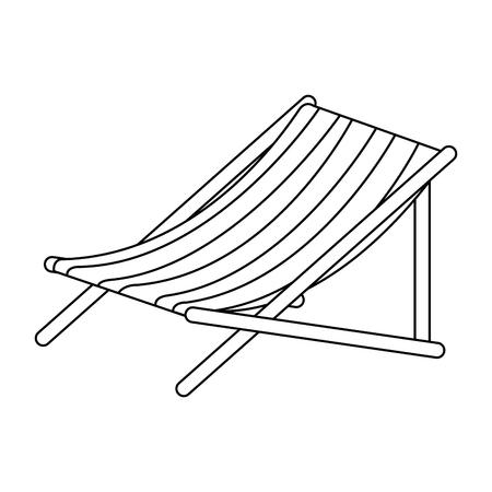Strandstoel geïsoleerd pictogram vector illustratieontwerp Stockfoto - 94232860