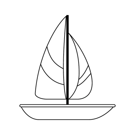 summer sailboat isolated icon vector illustration design Ilustração