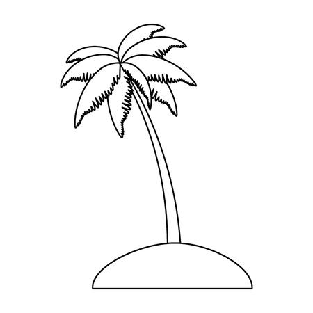 Palm tree on an island vector illustration design Illustration