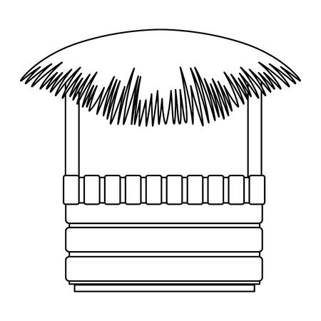 Straw beach hut icon vector illustration design.