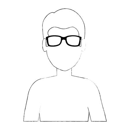 Young man shirtless character. Vector illustration design. Stock Vector - 94209052