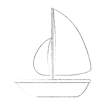 summer sailboat isolated icon vector illustration design Illustration