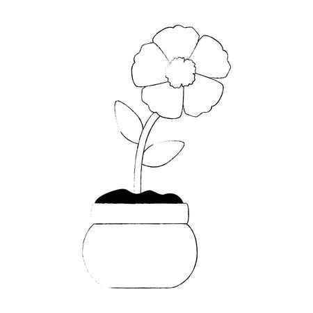 Progettazione dell'illustrazione di vettore dell'icona isolata fiore esotico Archivio Fotografico - 94354106
