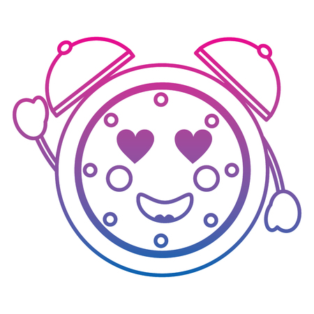 Clock heart eyes icon image vector illustration design