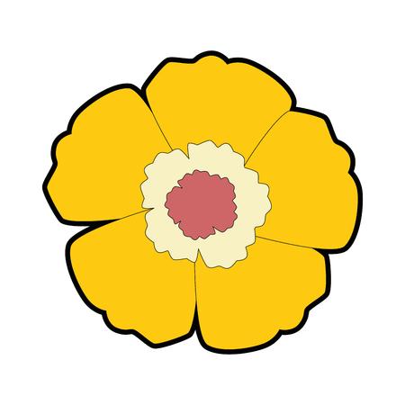 이국적인 꽃 격리 아이콘 벡터 일러스트 디자인 스톡 콘텐츠 - 94211511