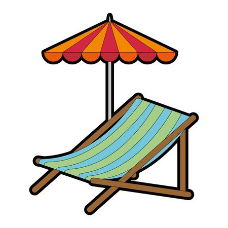 Strandstoel met paraplu vectorillustratie ontwerp Stockfoto - 94232870
