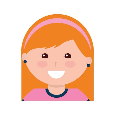 Happy girl with headband kid child icon image vector illustration design 版權商用圖片 - 94210254