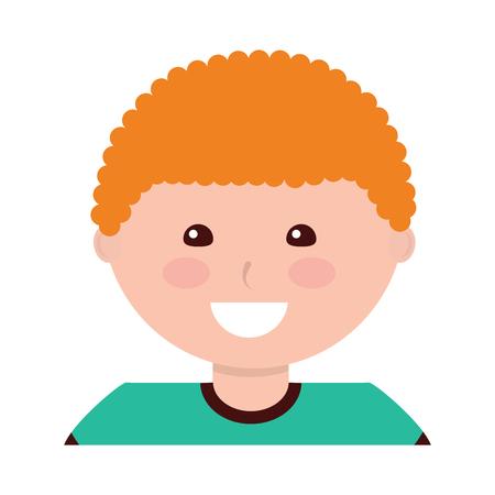 Happy boy kid child icon image vector illustration design