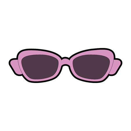 Summer sunglasses isolated icon vector illustration design Illustration