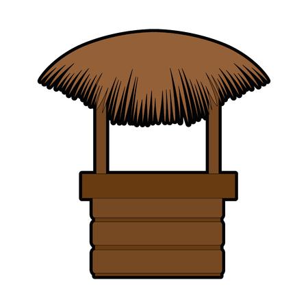 わらビーチ小屋アイコンベクトルイラストデザイン  イラスト・ベクター素材