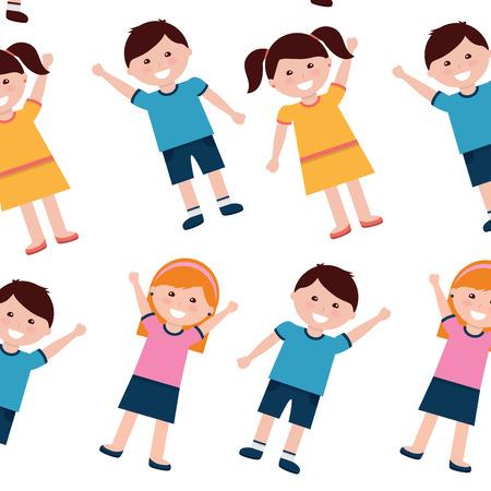 Happy kids children pattern image vector illustration design 版權商用圖片 - 94211515