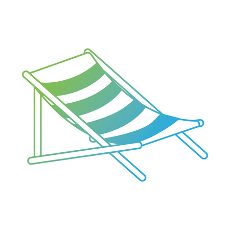 beach chair isolated icon vector illustration design Stock Vector - 94213865