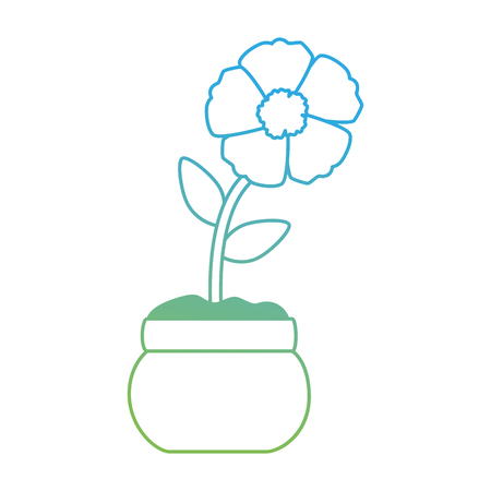 exotic flower isolated icon vector illustration design  イラスト・ベクター素材