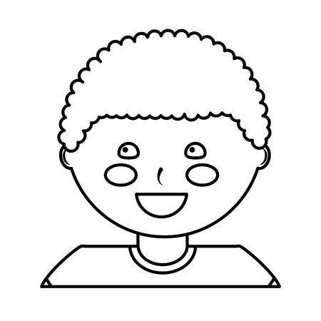 happy boy kid child icon image vector illustration design  black line