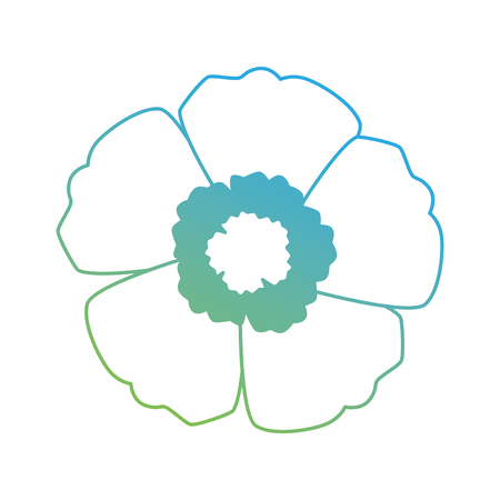 エキゾチックな花孤立したアイコンベクトルイラストデザイン